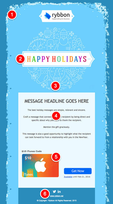 Holiday Email Design Infographic